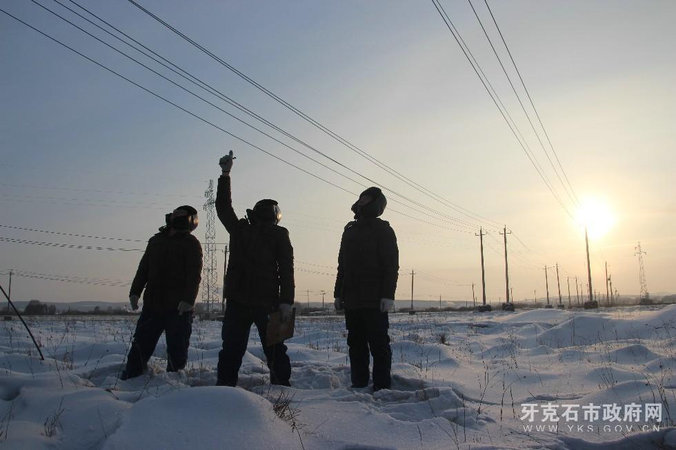 为保障用电安全,公司职工极寒天气下展开巡线.jpg